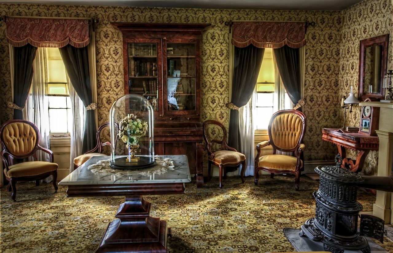 Wnętrza jak z filmu retro – ściany retro